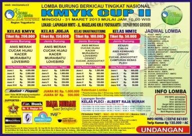 Brosur Lomba Burung Berkicau KMYK Cup II