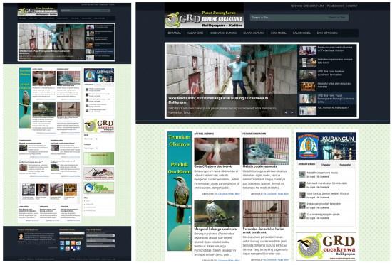 Website Cucakrawa GRD Bird Farm Balikpapan