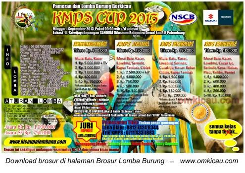 brosur kmps cup 2013