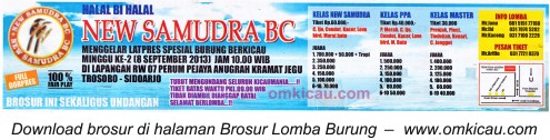 Brosur Latpres Spesial New Samudera BC Sidoarjo 8 Sept 2013
