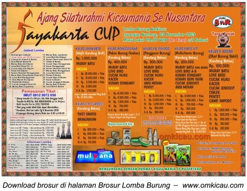 Brosur Jayakarta Cup