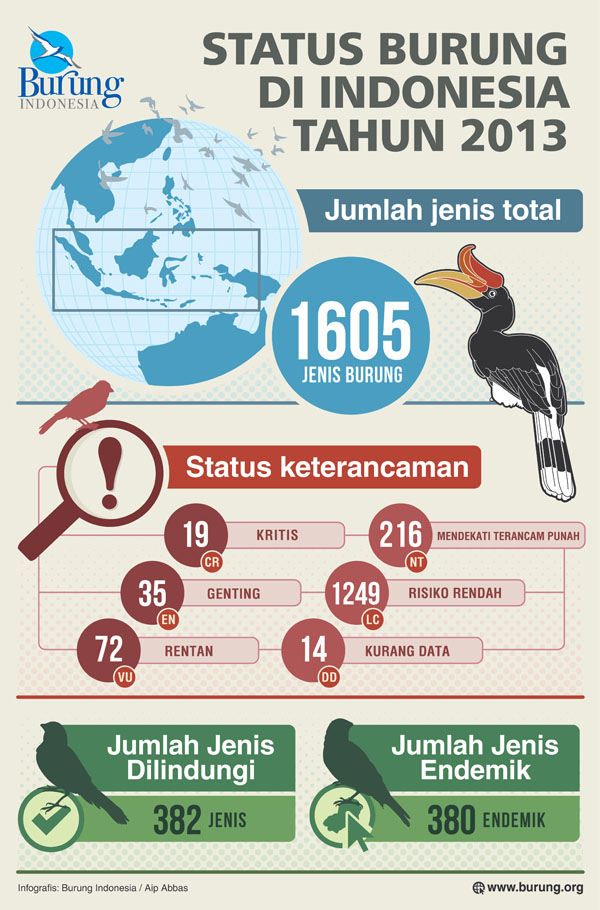 Infograpis Burung Indonesia