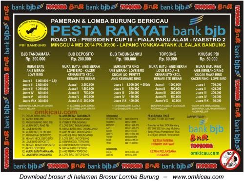 Lomba burung Pleci Van Java, Pesta Rakyat Bank BJB, dan ...