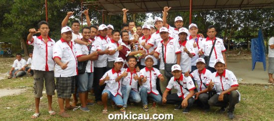 Ozone BC juara umum bird club.