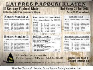 Brosur Latpres Papburi Klaten, 21 Juni 2015