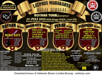 Brosur Latpres Mahakarya Royhan Team Enterprise, Jakarta Selatan, 17 Juli 2016
