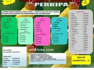 Brosur Latpres Burung Berkicau Jagabaya Perkipa, Banjarnegara, 7 Agustus 2016