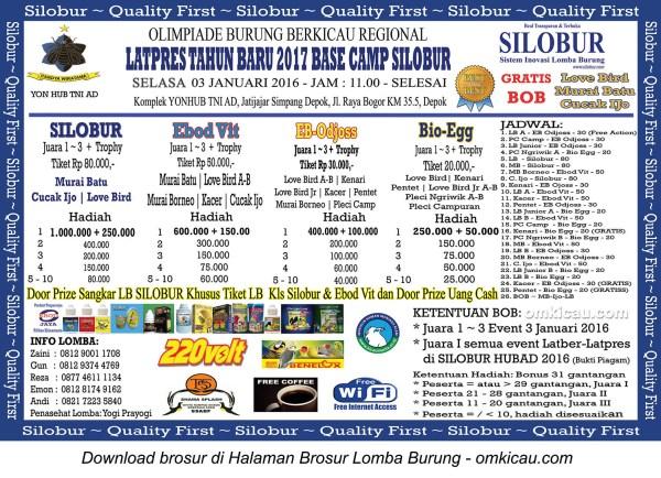 Brosur Latpres Tahun Baru 2017 Base Camp Silobur, Depok, 3 Januari 2017