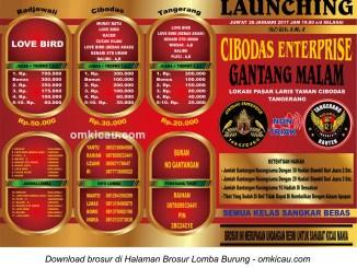 Brosur Launching Gantang Makam Cibodas Enterprise, Tangerang, 20 Januari 2017
