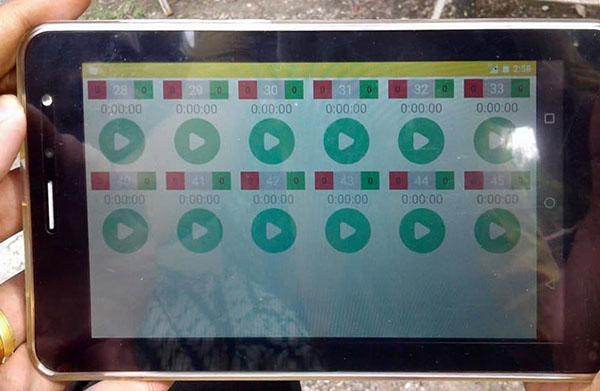 Tablet berisi aplikasi sistem penilaian lovebird