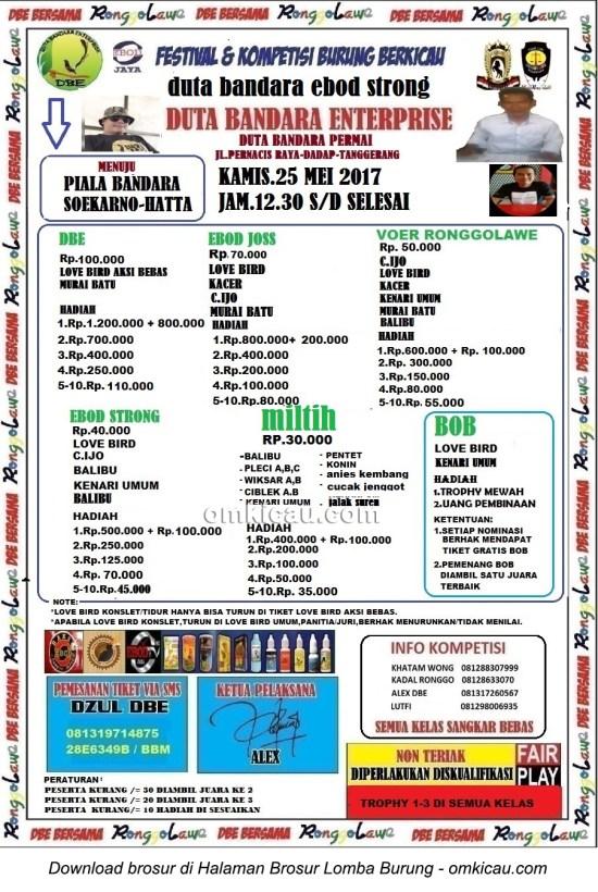 Brosur Latpres Kamis Ebod Strong Duta Bandara Enterprise, Tangerang, 25 Mei 2017