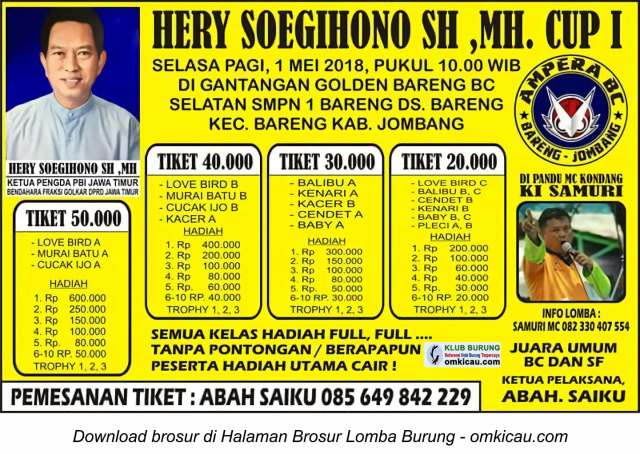Hery Soegihono SH MH Cup