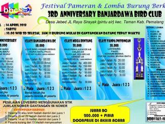 3rd Anniversary Banjardawa BC