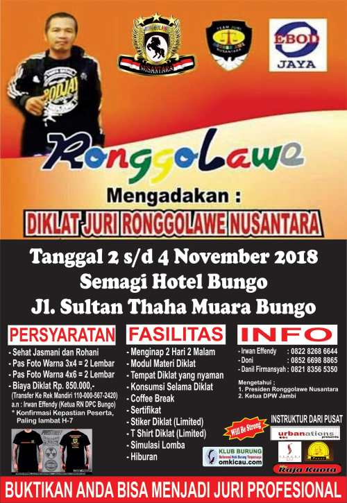 Diklat Juri Ronggolawe Nusantara