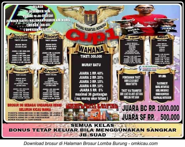 Wahana Cup 1