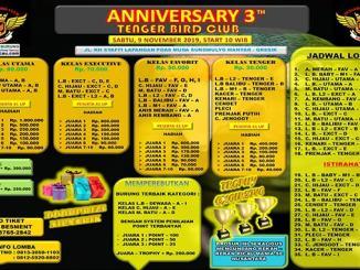 3Th Anniversary Tenger Bird Club