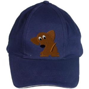 dachshund embroidery design on a hat
