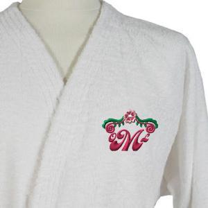 Monogrammed bath robe