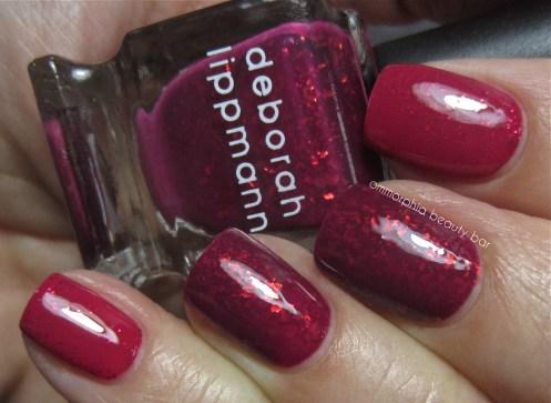 DL Raspberry Berry vs Raise Your Glass swatch