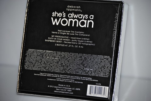DL She's Always A Woman back of box