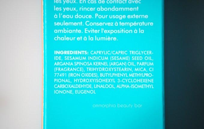 Moroccanoil Shimmering Body Oil ingredients