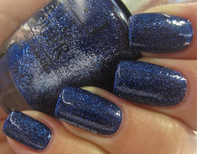 OPI DS Lapis swatch with top coat