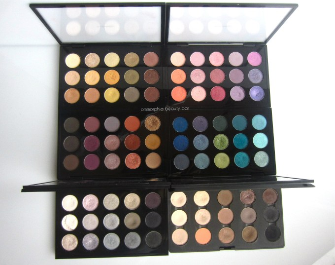 MAC de-potting project 6 palettes