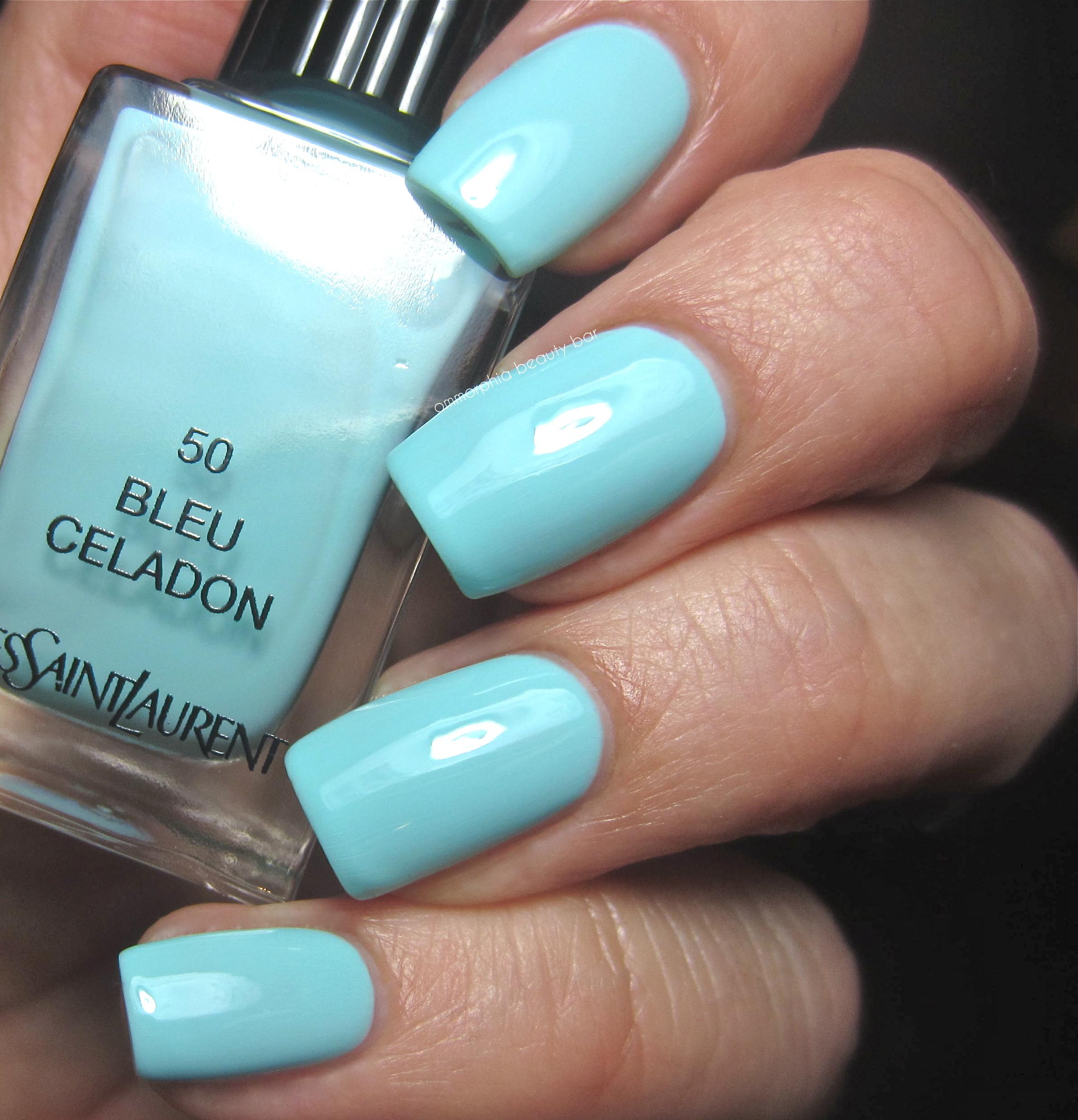 ysl 50 bleu celadon 51 bleu cyclades bleus lumi re collection summer 2014 ommorphia. Black Bedroom Furniture Sets. Home Design Ideas