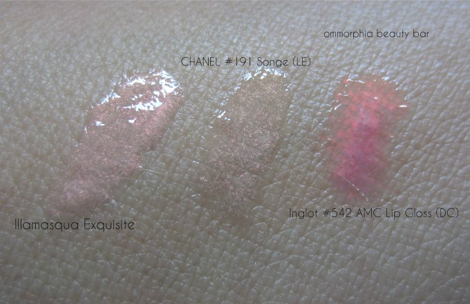 Illamasqua Exquisite and comparisons 2