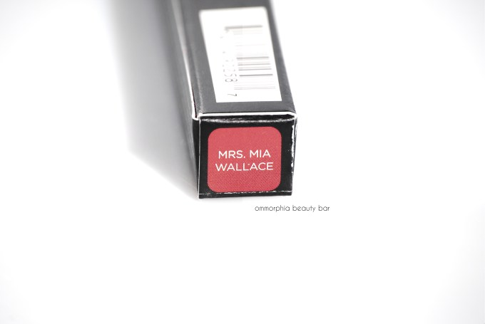 UD Mrs. Mia Wallace Lip Pencil label