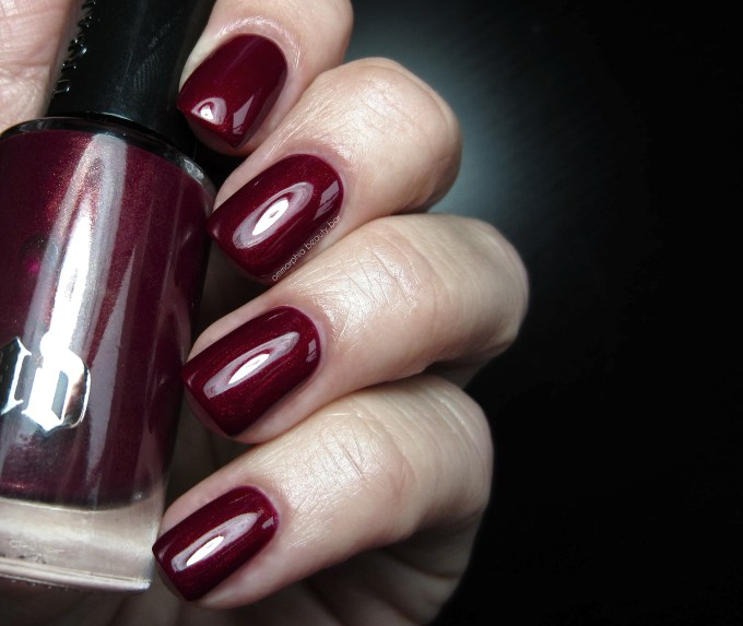 UD Mrs. Mia Wallace polish swatch 2