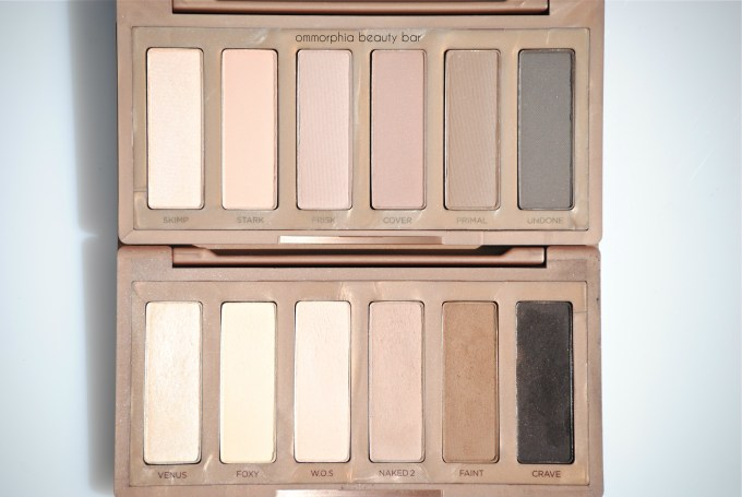 UD Naked Basics 1 and 2 macro
