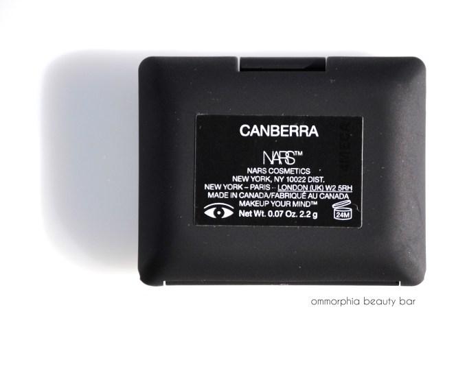 NARS Canberra label
