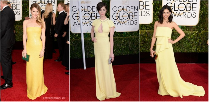 Golden Globes 2015 Yellow collage