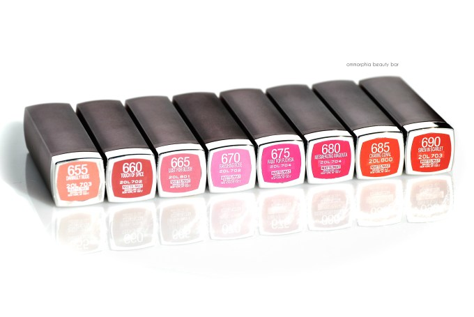 Maybelline Creamy Mattes labels