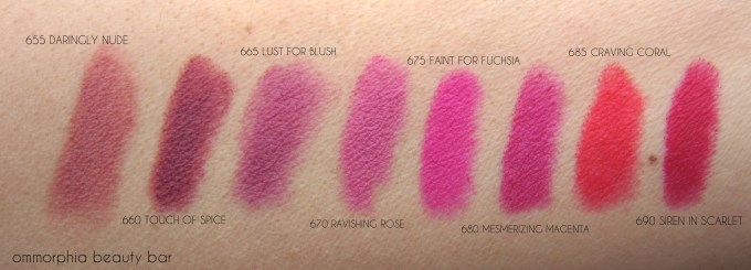 Maybelline Creamy Mattes swatches