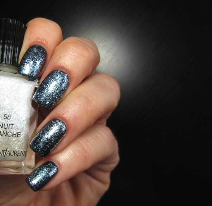YSL Nuit Blanche over Nuit Noire swatch