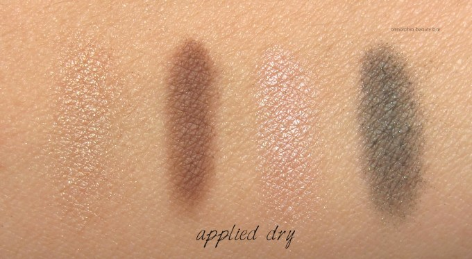 EA Golden Opulence quad swatches dry