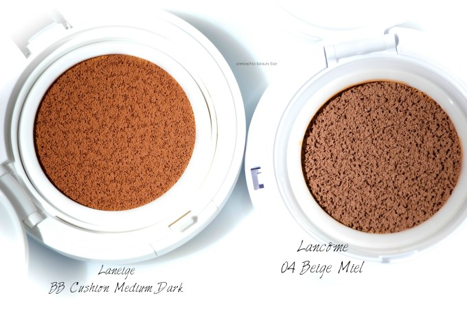 Lancome vs Laneige Miracle Cushion macro