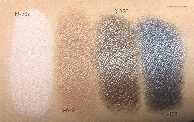 MUFE Jamie Chung quad swatches 2