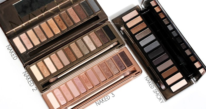 UD Naked Smoky with comparison palettes 2