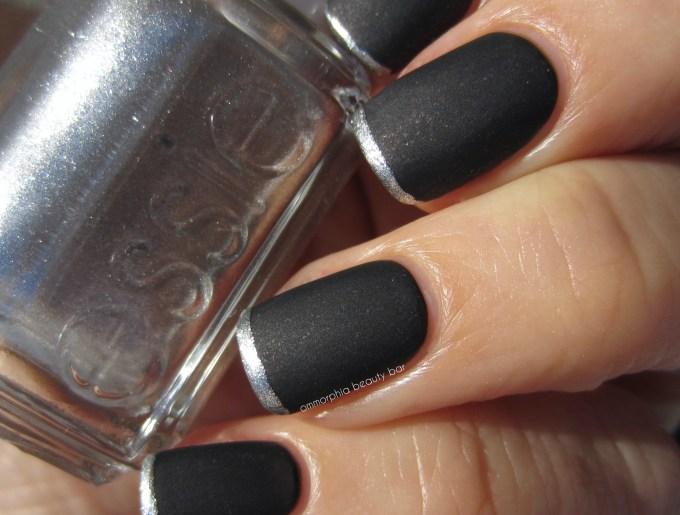 Essie Haute Tub swatch nail art