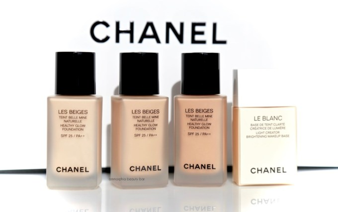 CHANEL Les Beiges foundation and Mimosa Le Blanc 2