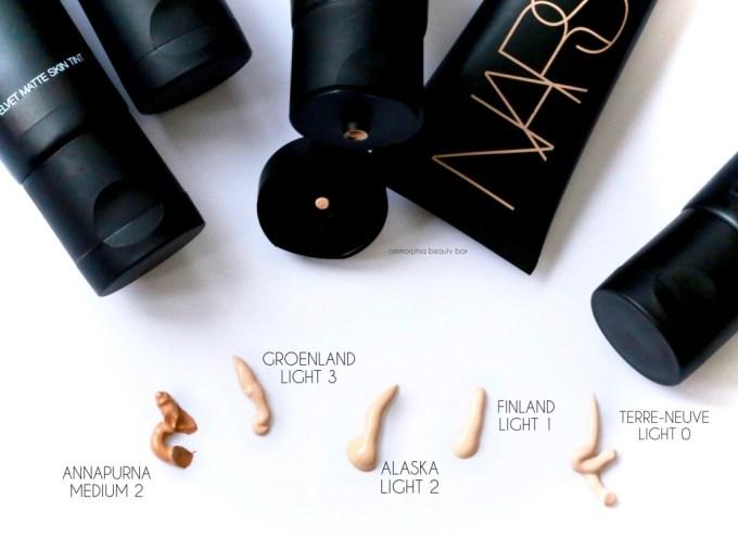 NARS Velvet Matte Skin Tint samples
