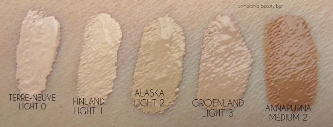 NARS Velvet Matte Skin Tint swatches 1
