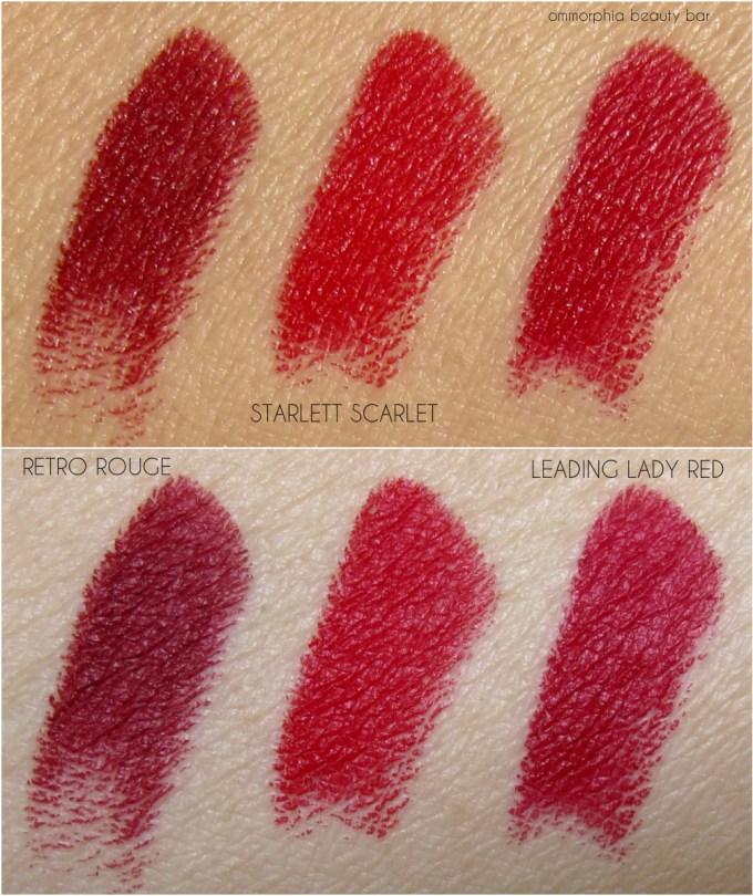 MAC x Charlotte Olympia lipsticks swatches