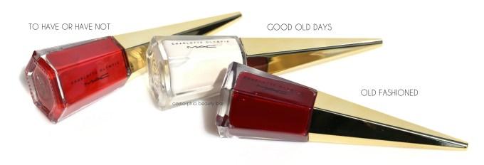 MAC x Charlotte Olympia nail polishes 2
