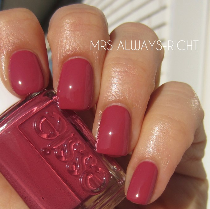 Essie Mrs Always-Right swatch