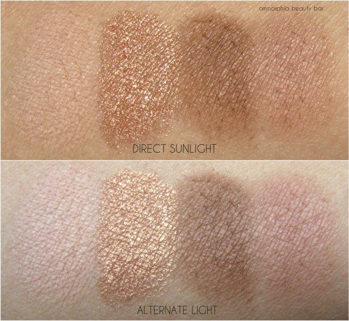 MAC Nano-Nude swatches