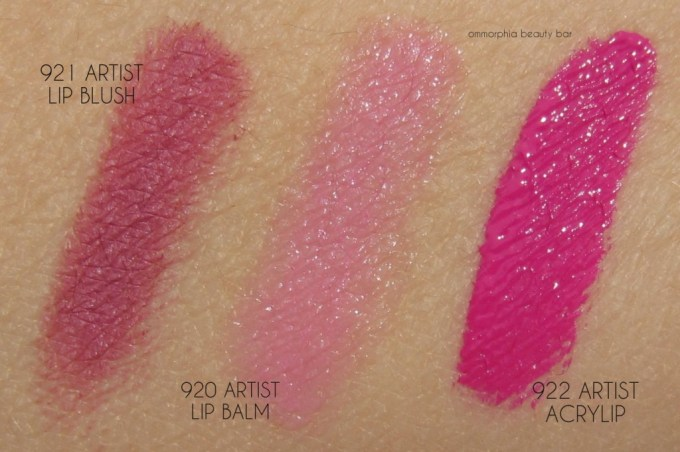 MUFE Lip Fever trio swatches